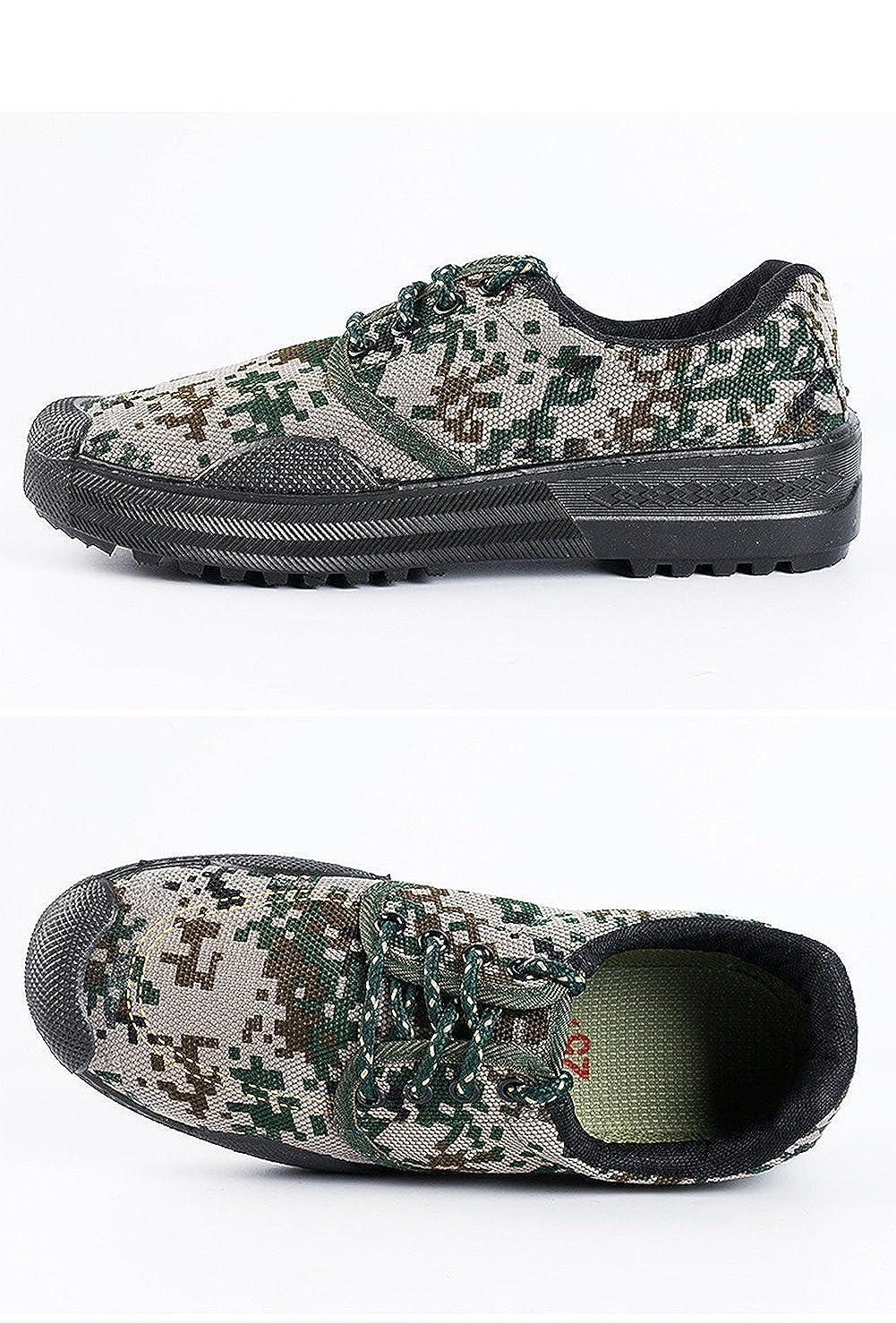 fd36046d7178c Amazon.com: Unisex Men Women Working Safety Low-Cut Camouflage Green Shoes  Slip-Resistant Sneaker: Shoes