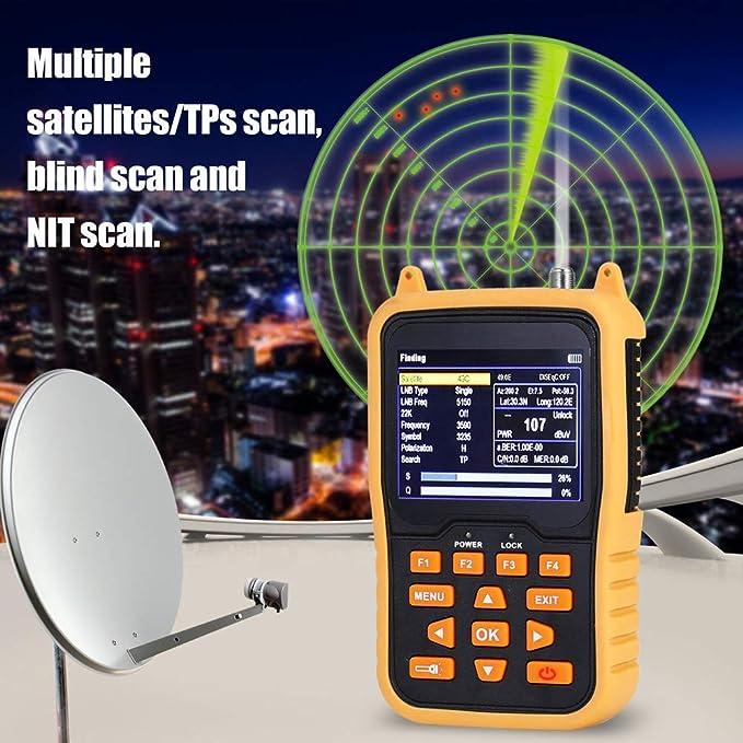 WYZXR Buscador de señal de satélite Digital portátil DVB-S2 ...