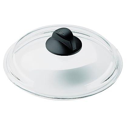 Silit - Tapa de cristal con pomo negro para sartenes (26 cm)