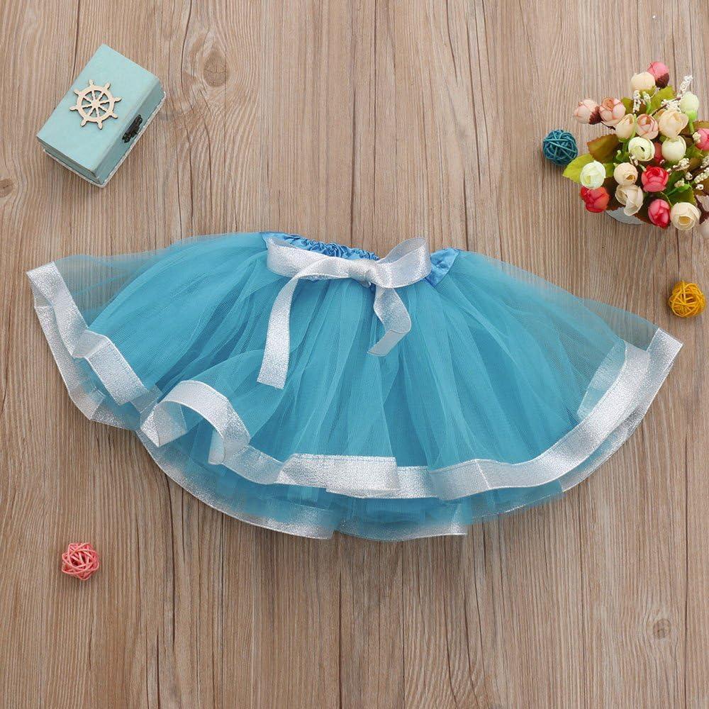 Cute Baby Girls Solid Ballet Skirts Fancy Skirt Romance8 Purple Tutu Baby