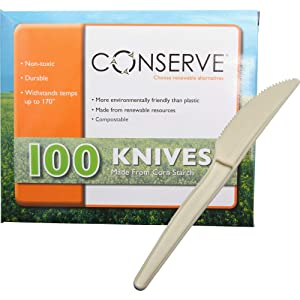 CONSERVE Knives 100 Pack OFF WHITE (10233)