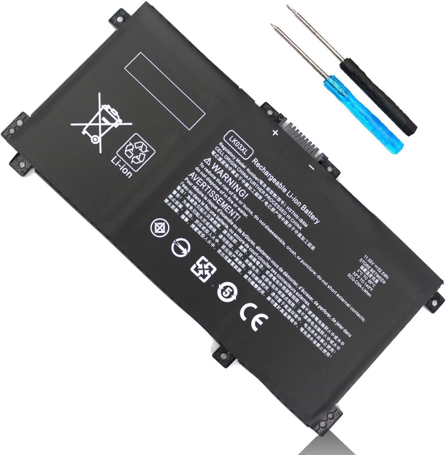 LK03XL l09281-855 L09280-855 916814-855 Battery for HP Envy X360 15m-bp112dx 15m-bp111dx 15m-bp011dx 15m-bp012dx 15m-bp1xx 15m-bq1xx 15m-cn0011dx 15m-cn0012dx 15-bp 15-bq Envy 17-ae 17m-ae 17m-ae0xx