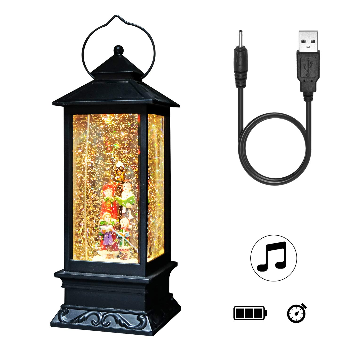 DRomance Lighted Water Lantern Glittering with