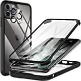 KKM Tempered Glass Case Designed for iPhone 11 Pro max 6.5-inch, with Camera Lens Protector, Shockproof Bumper, Anti-Scratch,