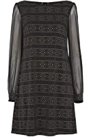 Roman Originals Women's Metallic Mesh Detail Dress