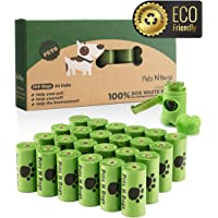 Pets N Bags Dog Poop Bags, Dog Waste Bags, Biodegradable Unscented Refill Rolls, Includes…