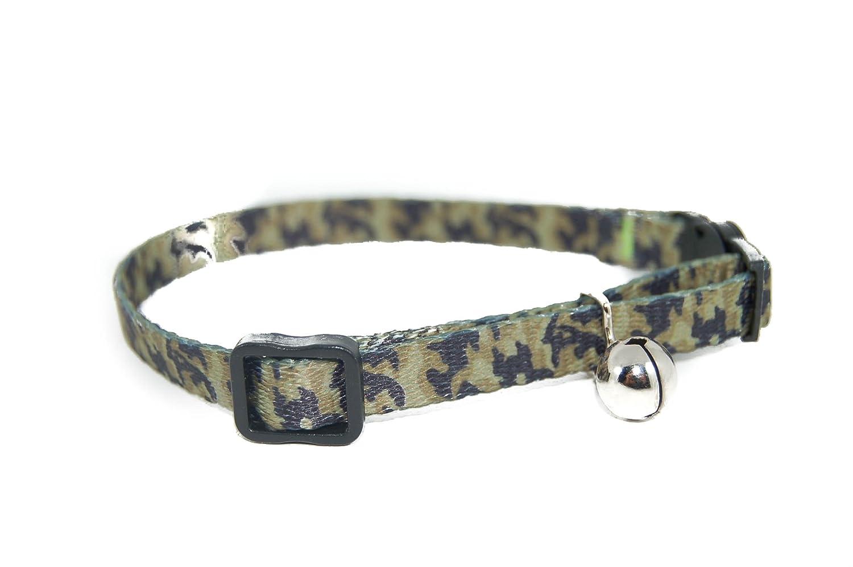 Pet Palace® «Moggy Camouflage Militaire Vert de sécurité Collier avec Bell jouet. Pet Palace Products FPP1