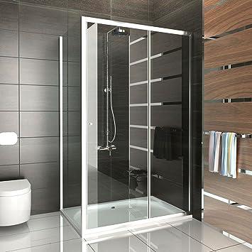 Cabina de ducha puerta corredera 120 x 80 x 190/Mampara/einscheibensicherheitsglas/puerta de ducha/fugo de puerta corredera: Amazon.es: Bricolaje y herramientas