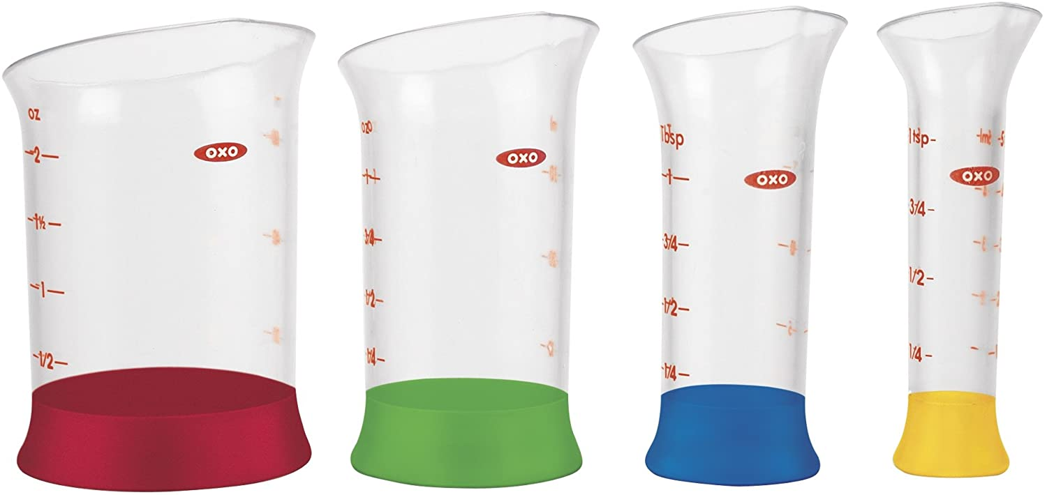 OXO Good Grips 4-Piece Mini Measuring Beaker Set