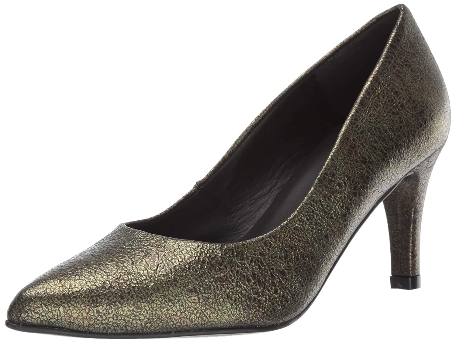 Moss Crackled Leather André Assous Women's Onassis Pump