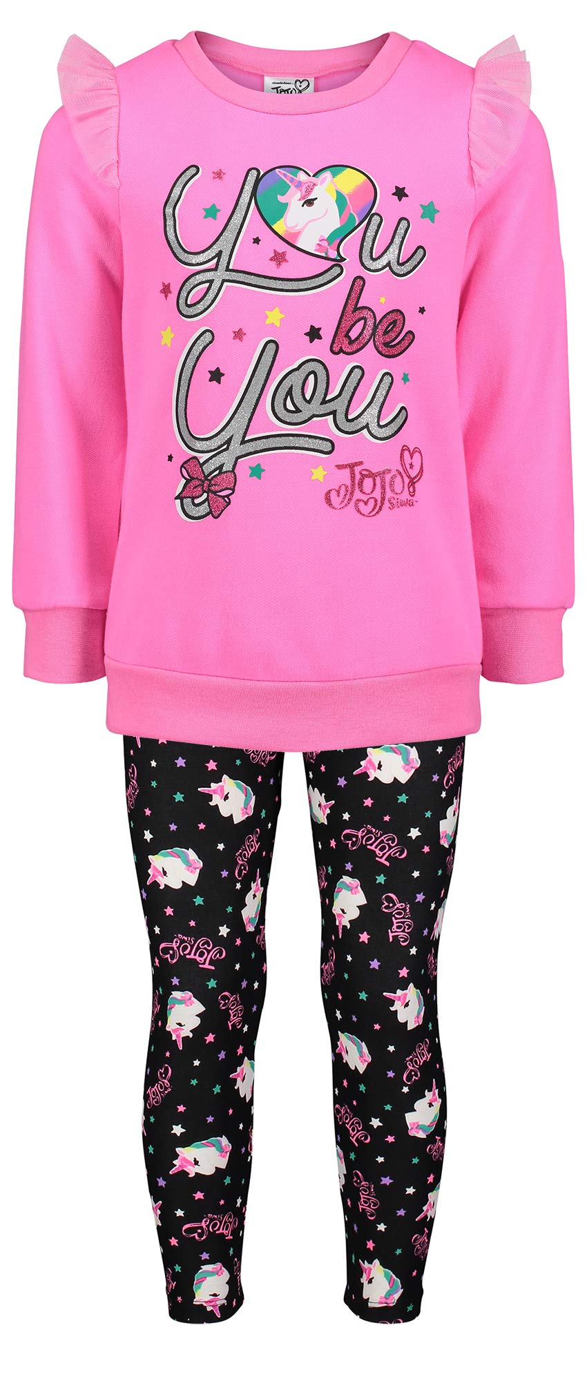 Top and Legging Girls 4-16 JoJo Siwa Unicorn Graphic Hoodie 3-Piece Athleisure Outfit Set