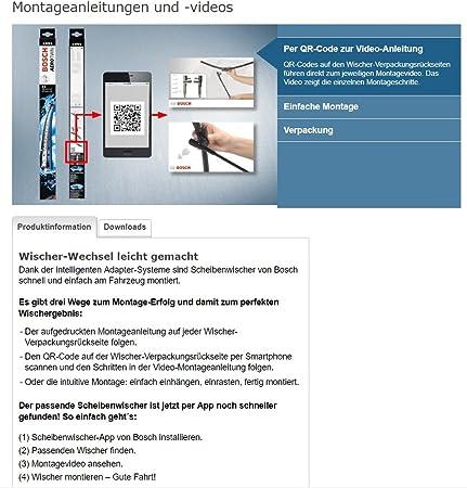 Bosch Scheibenwischer Set Für Vorne Hinten Bosch Aerotwin A012s Und H230 3397014095 Längen 500 360 Mm Aufnahme Nr 7 Und 3397004560 Länge 230 Mm Auto