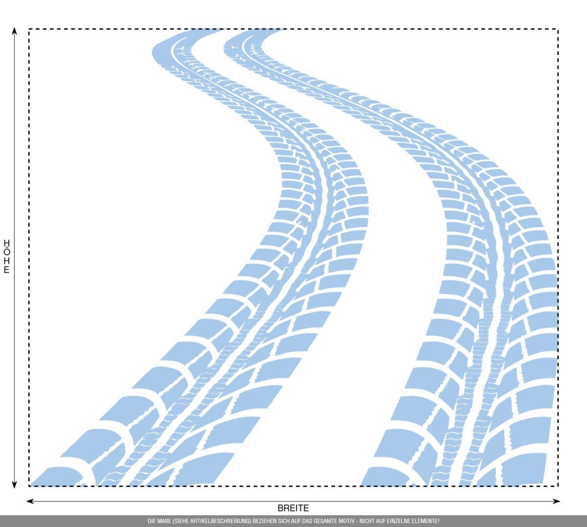 CLICKANDPRINT CLICKANDPRINT CLICKANDPRINT Aufkleber » Reifen-Spuren, 120x103,7cm, Schwarz • Wandtattoo   Wandaufkleber   Wandsticker   Wanddeko   Vinyl B01NGZTUU9 Wandtattoos & Wandbilder 0b1e40