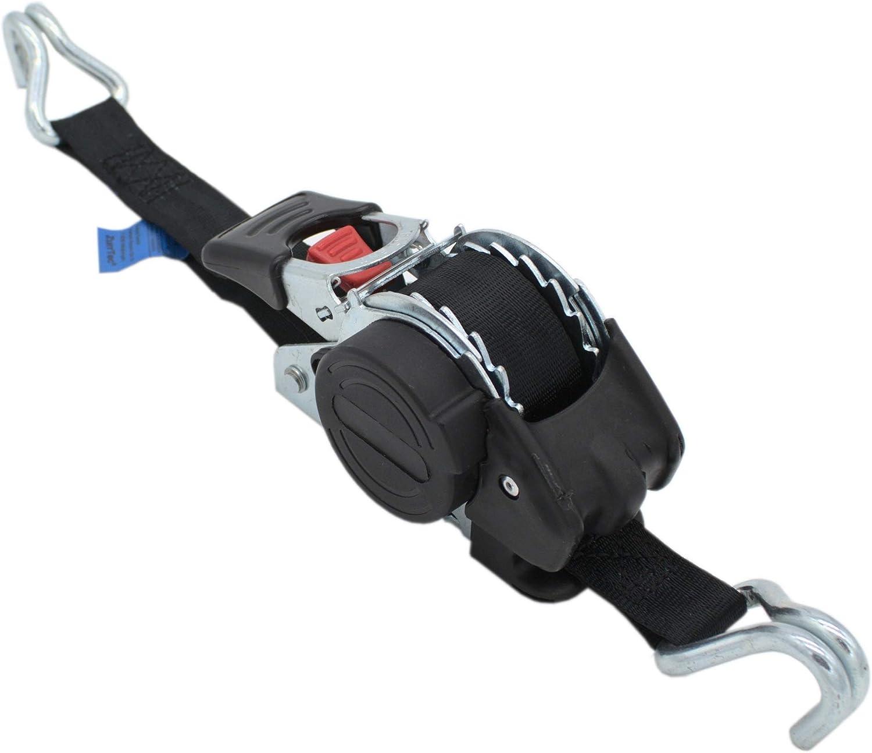 Automatik Spanngurt Zurrgurt 3 M X 25mm 300 600 Kg Dan Selbstaufrollend Mit Spitzhaken Baumarkt