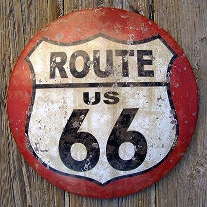 Amazon.com: US Route 66 Vintage Road Sign: Jardín y Exteriores