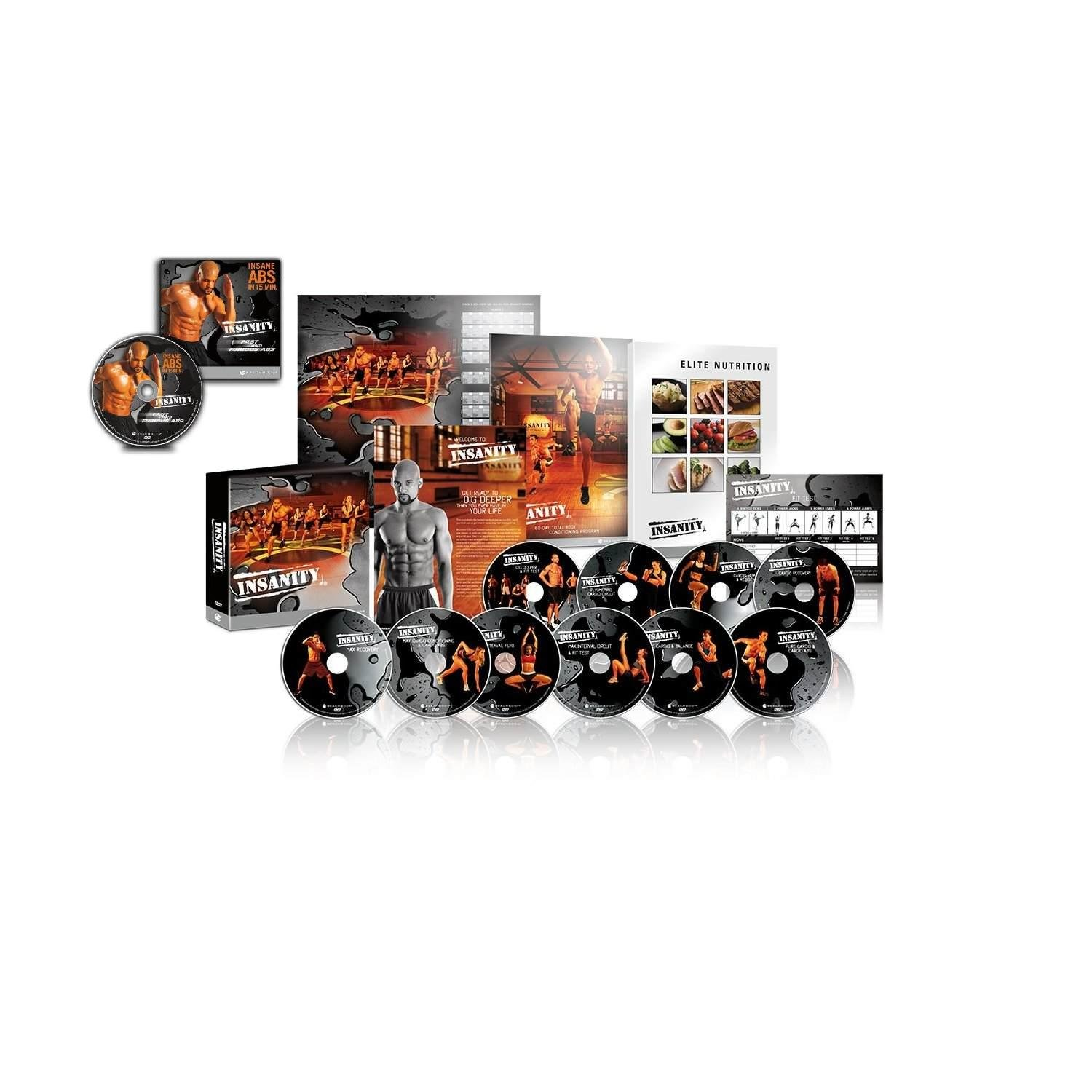 Insanity 60 Day 14 DVD WorkOut Bundle With fast and furious 20 minute dvd  set