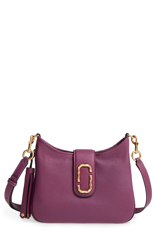 c59609bc91c5 Amazon.com  Marc Jacobs Small Interlock Leather Hobo Shoulder Bag  Shoes