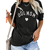 LOTUCY Women Dog Mom T Shirts Sweatshirt Cute Print Pullover Top Dog Lover Shirt Long Sleeve Tee Blouse