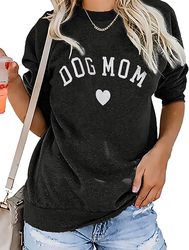 Stay At Home Dog Mom Off the Shoulder Oversized Sweatshirt Off shoulder t shirt for women Dog Lover Gifts for Her Dog Mom Pet Lover Puppy