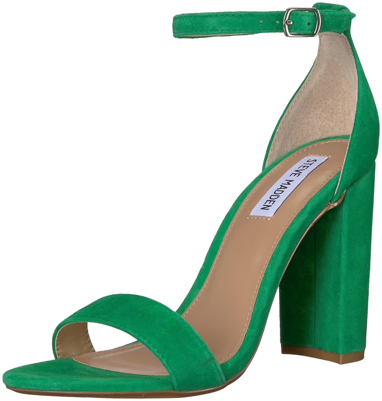 Steve Madden Women's Carrson Dress Sandal B078N6WY3V 8.5 B(M) US|Green Suede