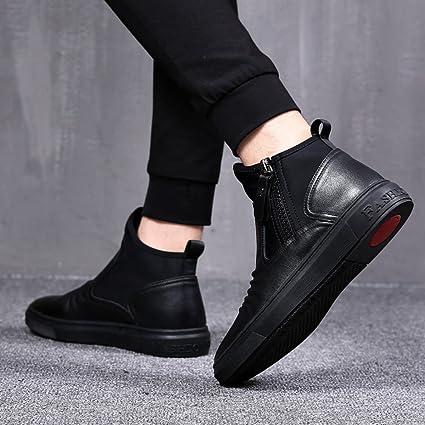 QVRGE Moda Masculina Salvaje Martin Botas Casual Zapatos Carrefour Zapatos,Black-43EU: Amazon.es: Ropa y accesorios