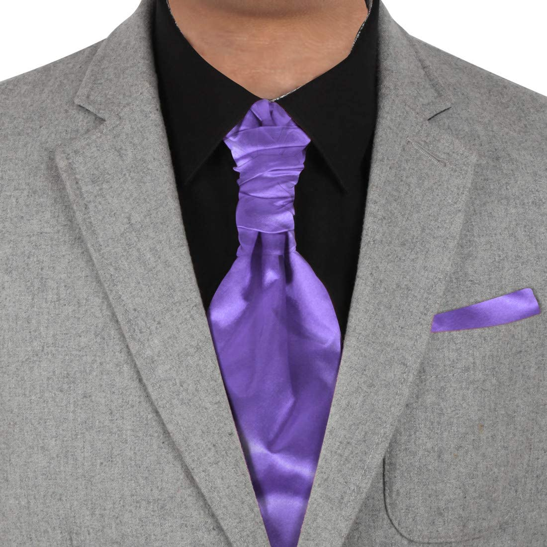 Cravat for Boys Boys Satin Wedding Ruche Cravat Tie with hankys Boys Cravats