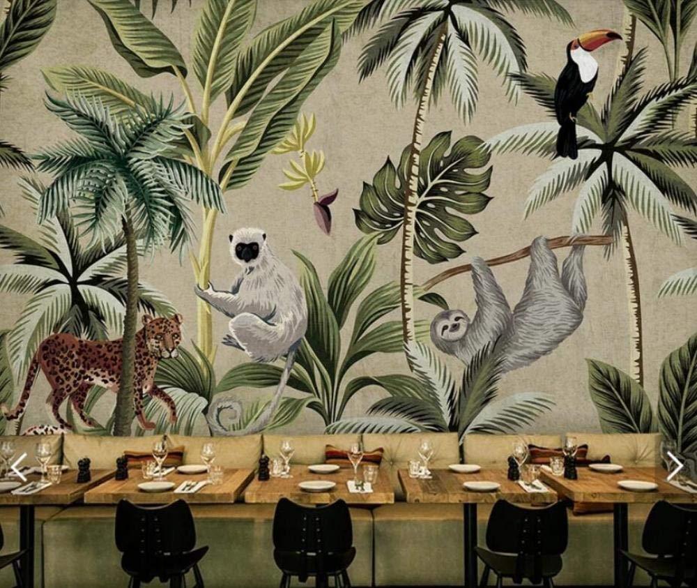 Papier Peint Tropical Toucan Singe Papier Peint pour Mur de Salon Papier peint intiss/é tapisserie murales panoramique 3D Asie du sud-est