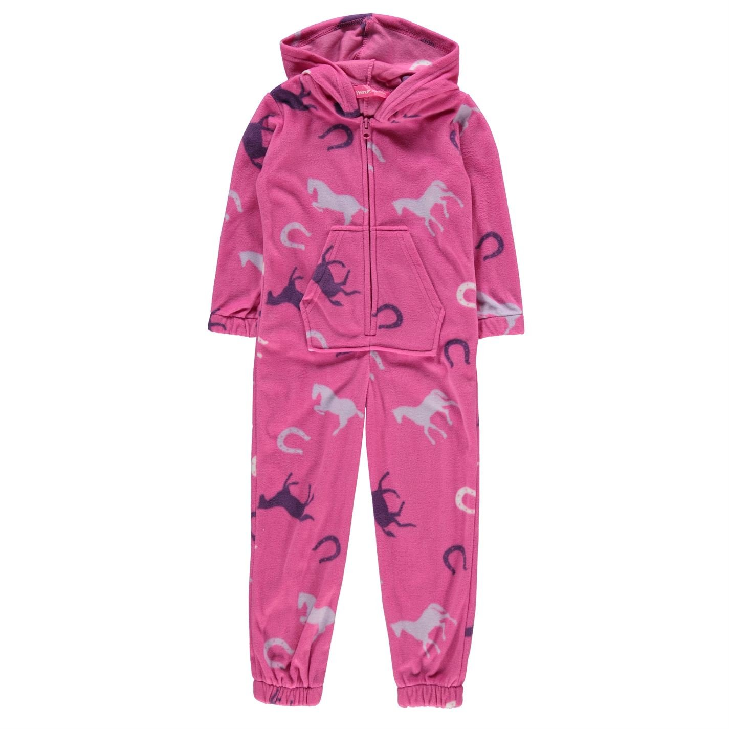 Classic Kids Girls Infant Onesie Pyjama Set Hooded Zip Up