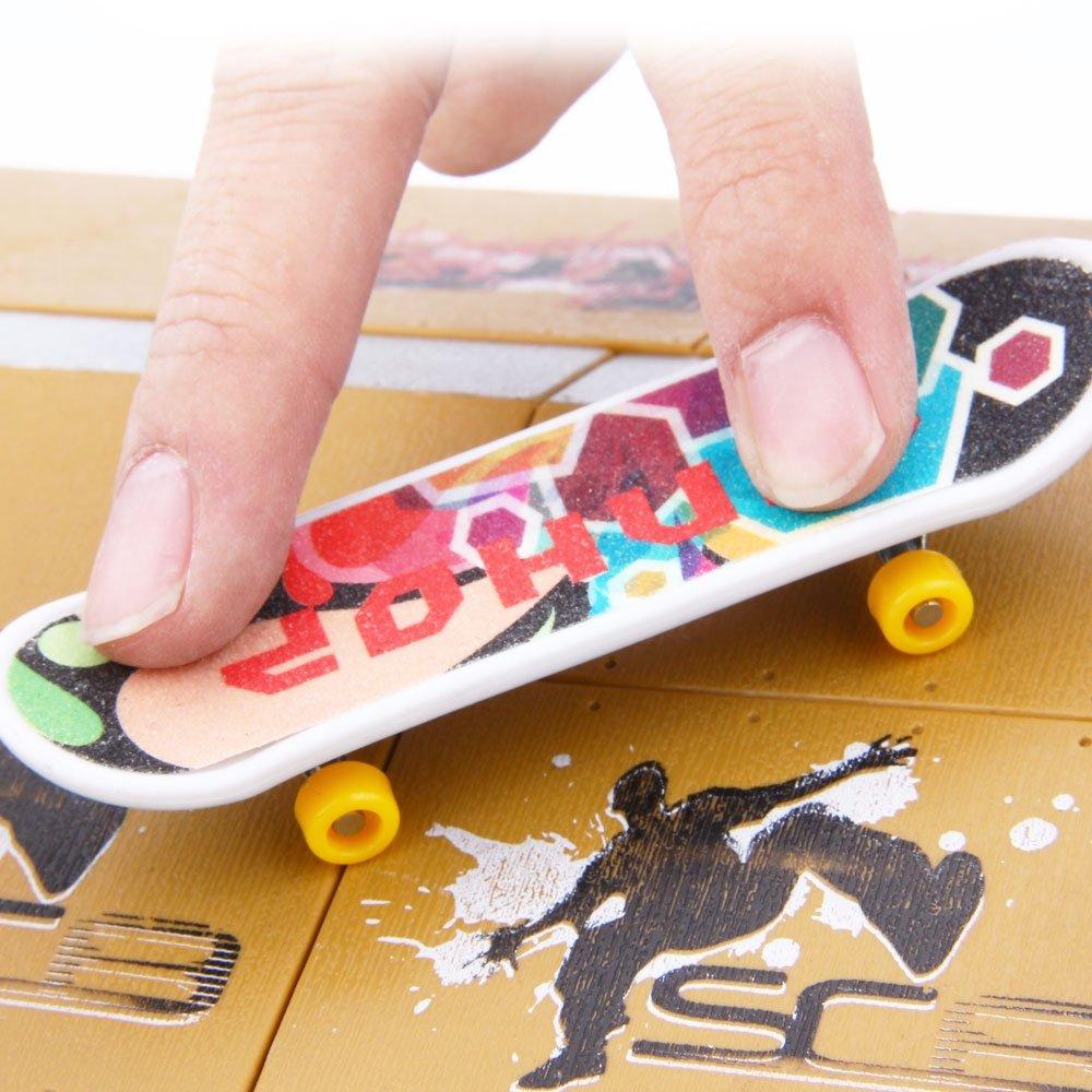 BISOZER Finger Board Skate Park Kit, 8PCS Mini Games Skate Park Kit Ramp Parts for Tech Deck Finger Skateboard Ultimate Parks Training Props by BISOZER-Toy (Image #5)