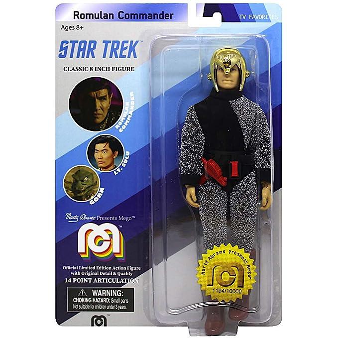 "MEGO ROMULAN COMMANDER STAR TREK 8/"" FIGURES TV FAVORITES"