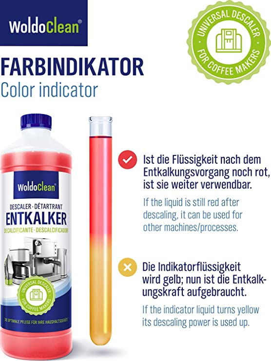 Descalcificador para cafetera 750ml - compatible con marcas ...