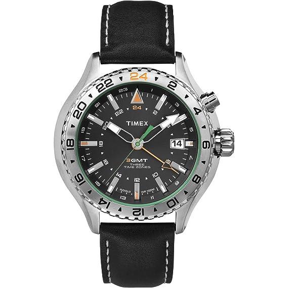 Timex Intelligent Quartz – T2P452 – Reloj Hombre – Cuarzo Analógico – Esfera Negra – Correa