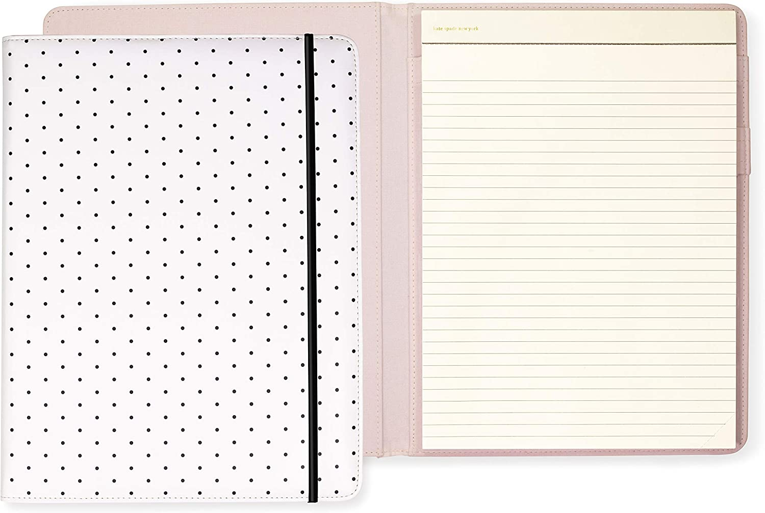 Kate Spade New York Women's Professional Folio with Lined Notepad, Interior Pocket, and Pen Loop