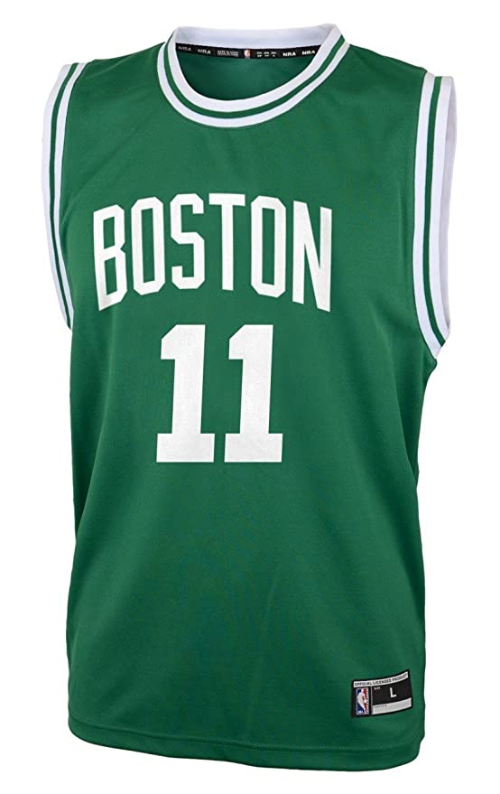 Outerstuff Kyrie Irving Boston Celtics #11 Green Youth Road Replica Jersey