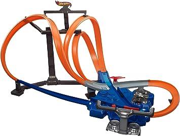Hot Wheels - Looping-Actionpark Pista Triple con 2 propulsores y Zona de choques (Mattel X9286)