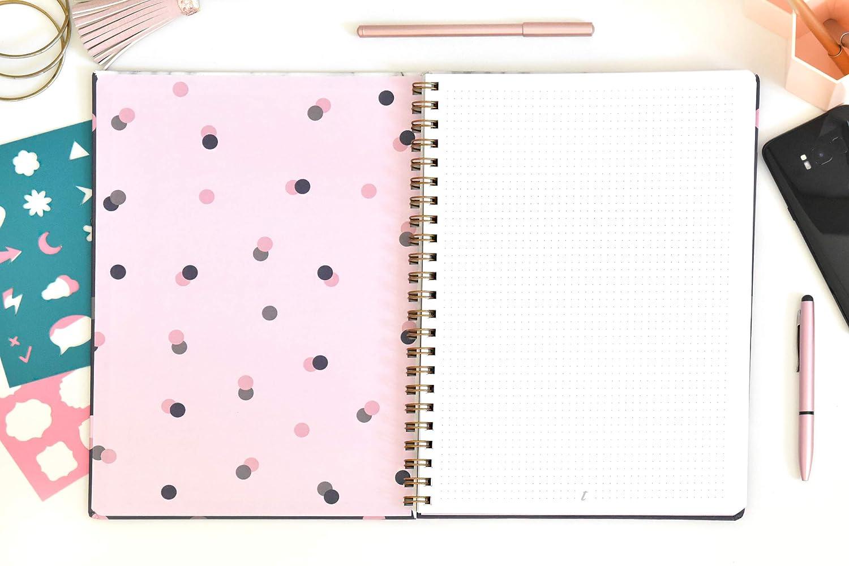 rilegatura a spirale A4 Sogni quaderno con fogli puntinati carta spessa copertina rigida Takenote