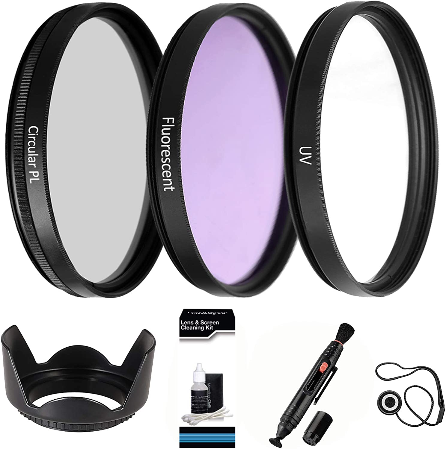 1A Multicoated 82mm Haze Multithreaded Glass Filter UV for Canon EOS Rebel T3