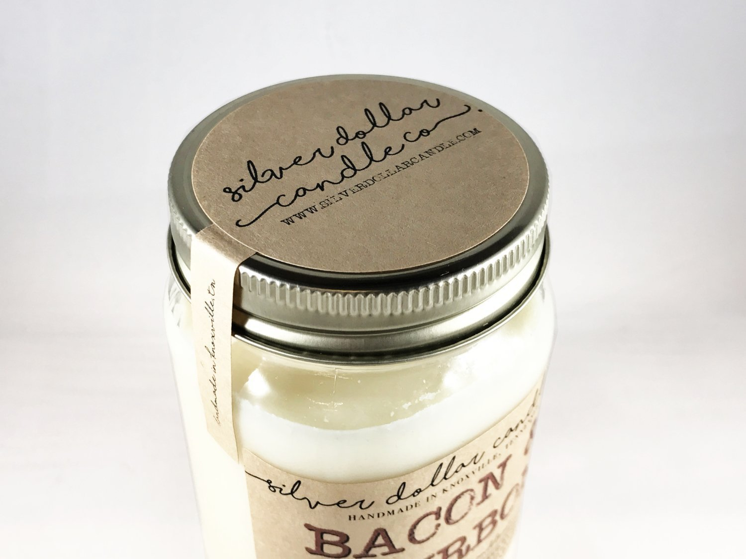 Mason Jar Candle 16oz Mulled Cider Scent 100/% Soy Wax Scented Candle by Silver Dollar Candle Co.