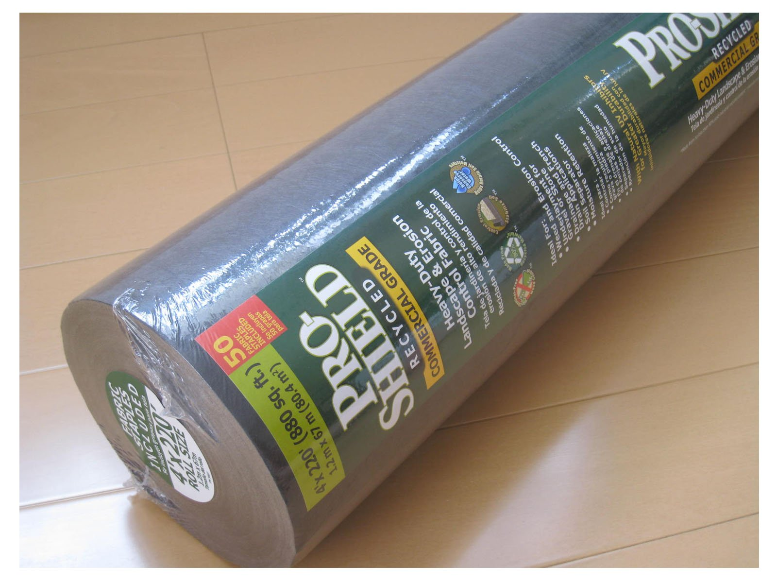 (4' Wide) 220' Pro Shield Commercial Heavy Duty Landscape Errosion Control Weed Barrier Fabric