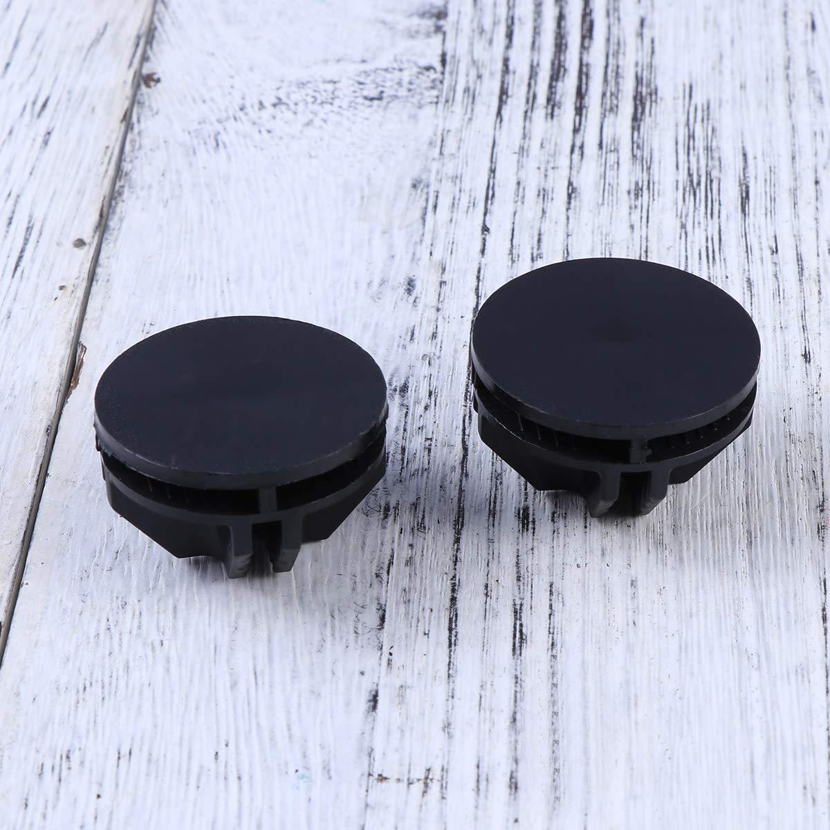 LIOOBO 20pcs Conectores de pl/ástico de Cubo de Alambre para el Armario Organizador Modular y la estanter/ía de Almacenamiento de Cubo de Rejilla de Alambre Negro