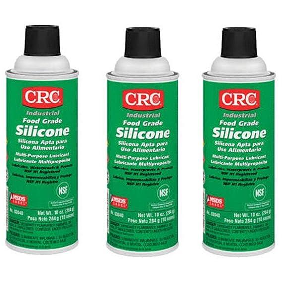 CRC 03040 Food Grade Silicone Lubricant, (Net Weight: 10 oz) 16oz Aerosol ,  Clear/White