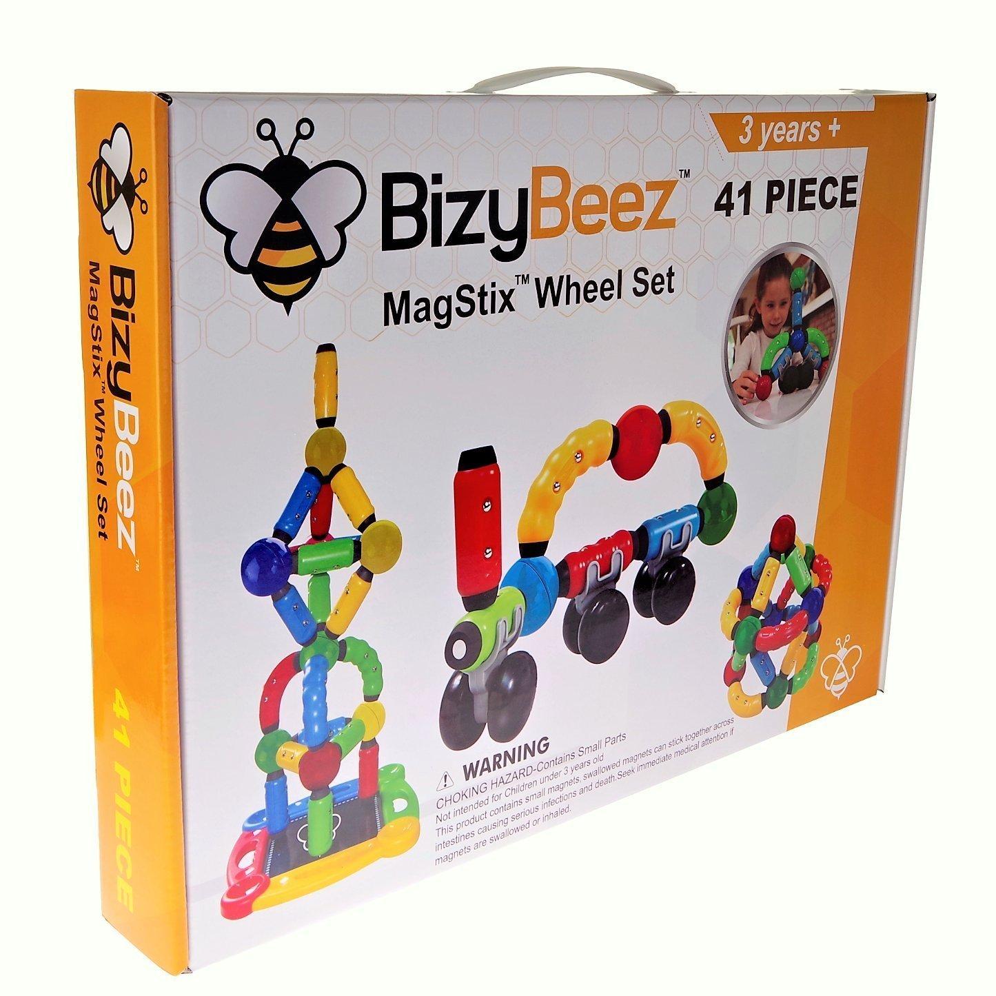 Amazon BizyBeez MagStix Wheel Set 41 Pieces Sensory