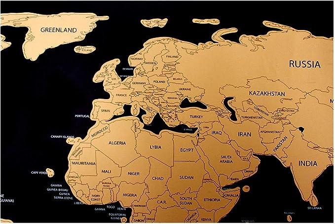 Cartina Geografica Scratch Map.Rubbelweltkarte Cartina Del Mondo Per Frei Sfregamento Scratch Off World Map Buono Cartina Geografica Poster