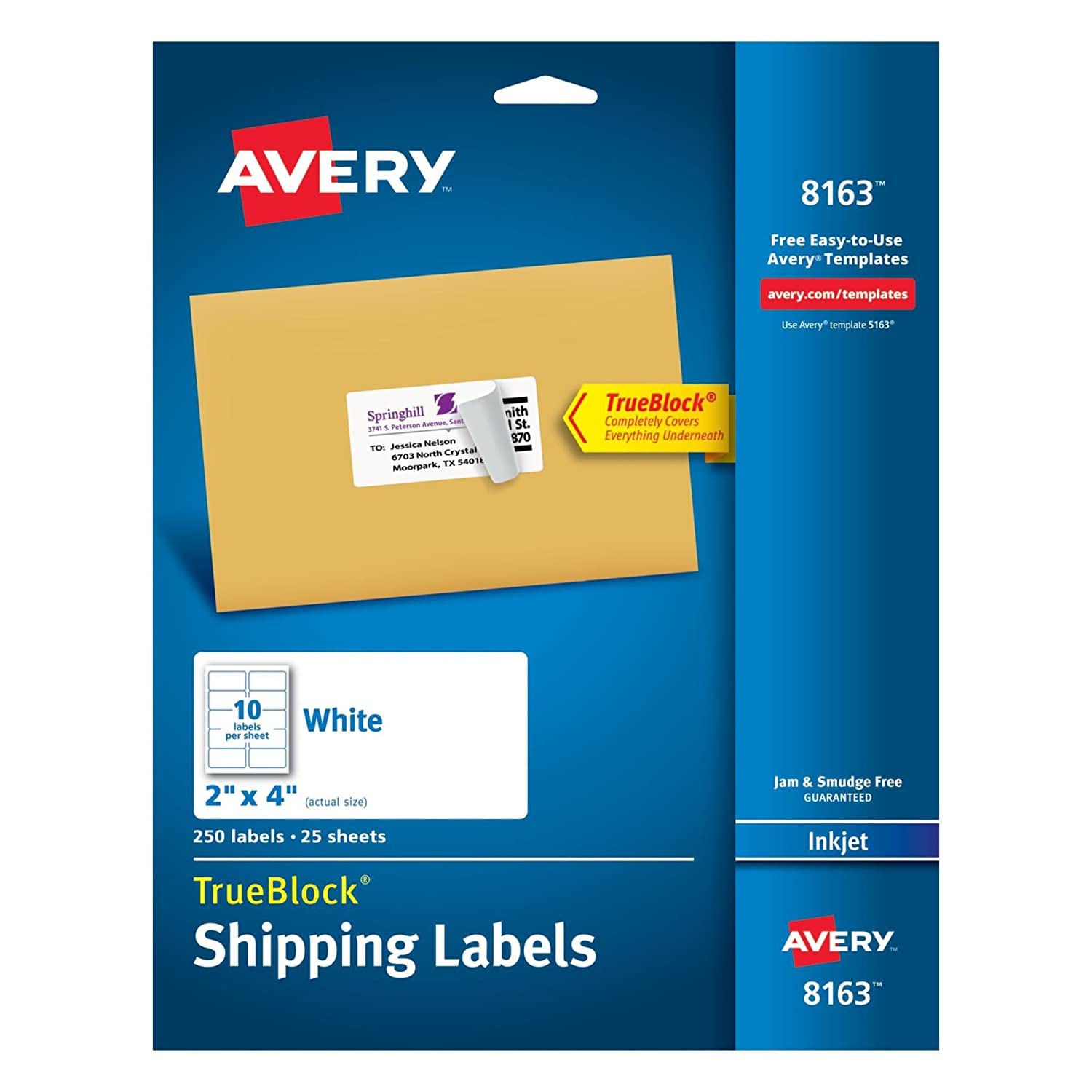 Amazon Avery Shipping Labels with TrueBlock Technology 2 x 4 – Large Mailing Labels