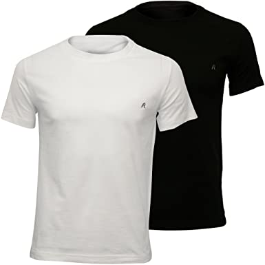 f1f355c1b1ad Replay 2-Pack Crew-Neck Men's T-Shirts, Black/White at Amazon Men's ...