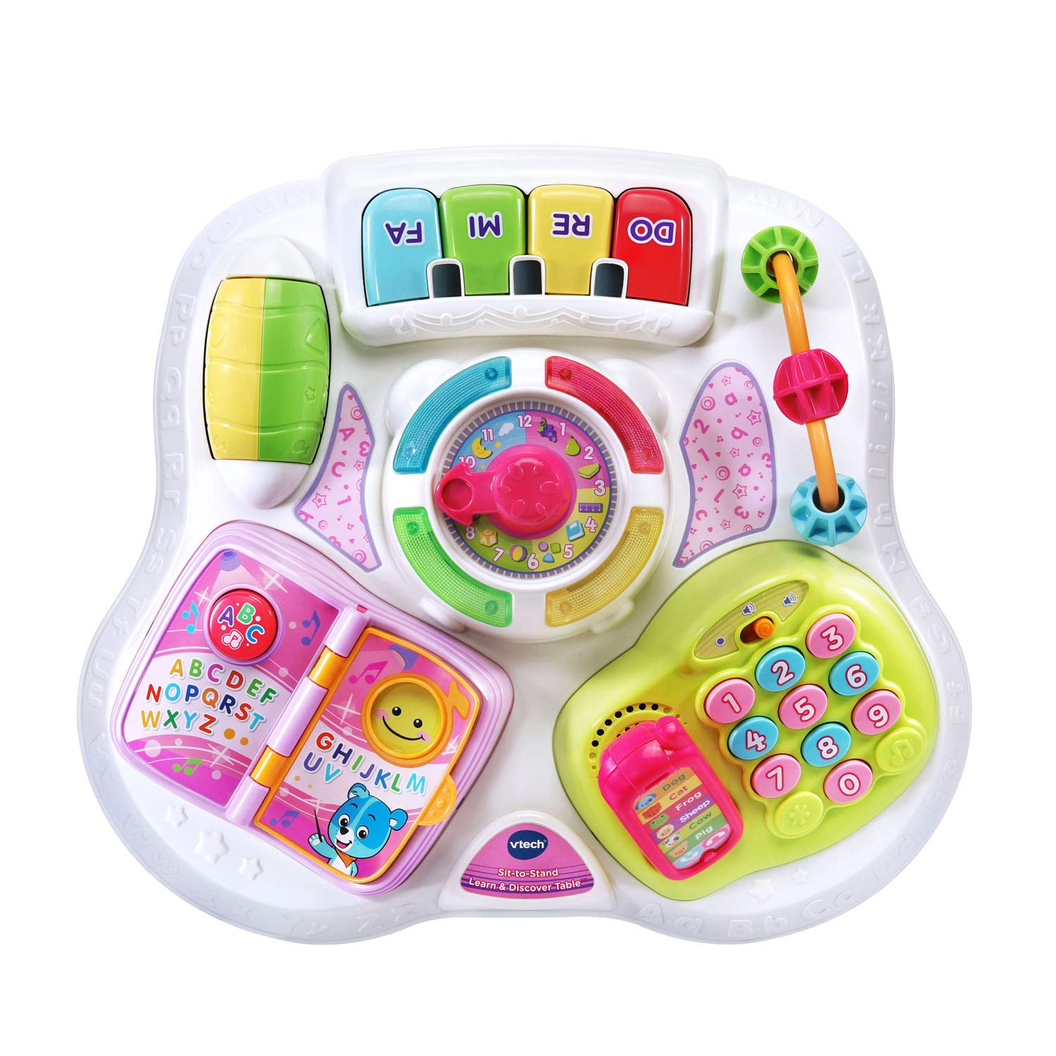 VTech Sit-To-Stand Learn & Discover Table, Pink by VTech (Image #3)