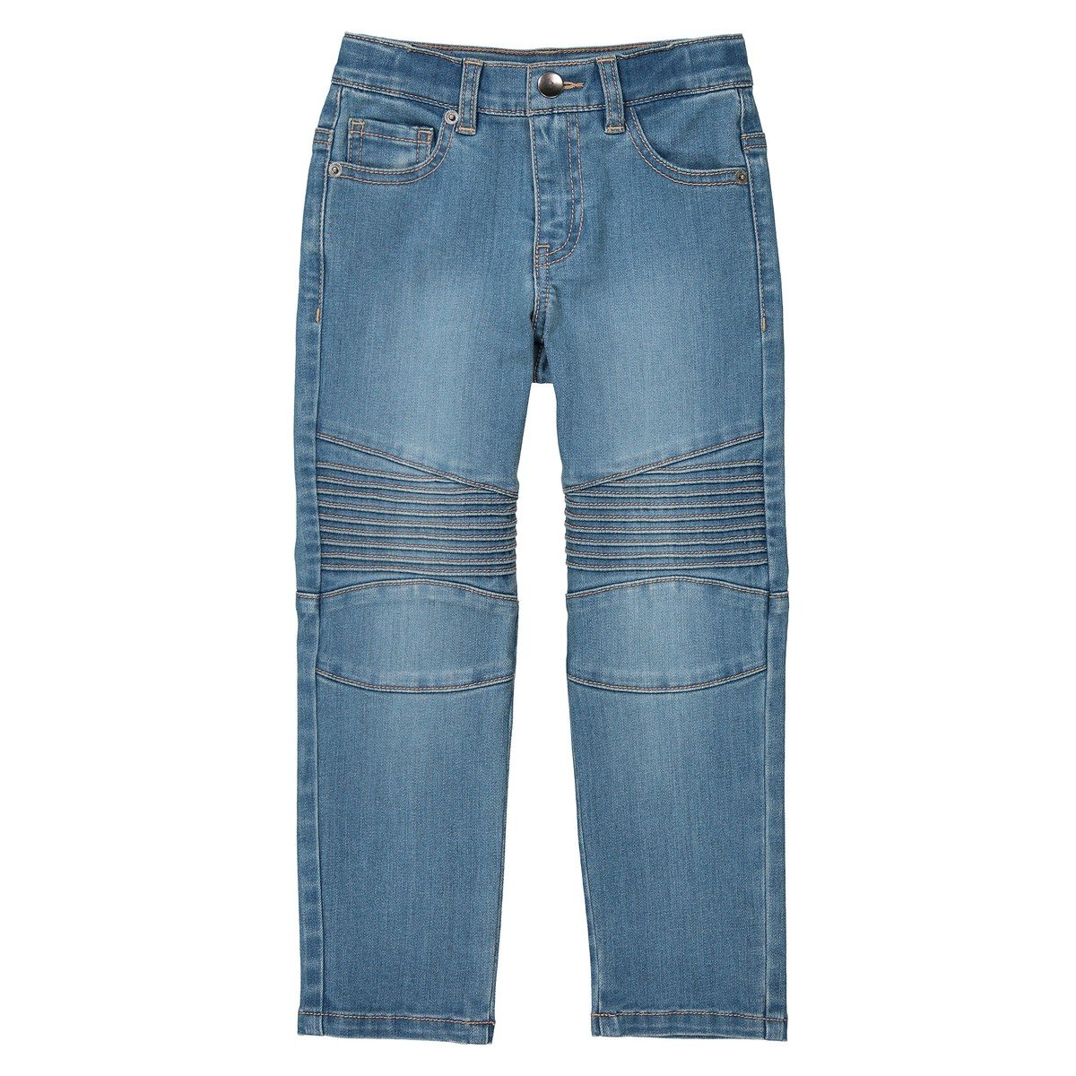 40 in. La Redoute Collections Big Boys Super Tough Jeans 3-12 Years Blue Size 4 Years