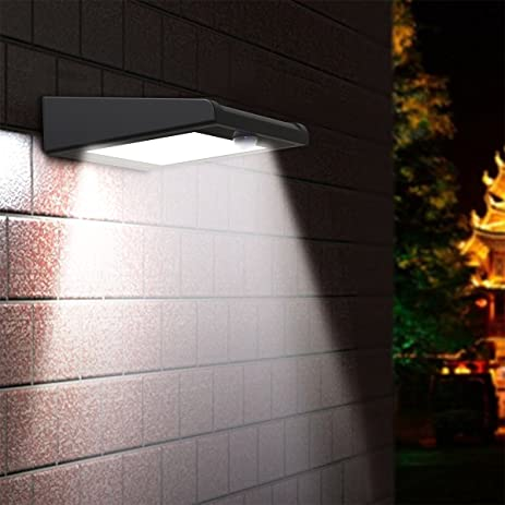 Brightest 30 LED Solar Light, Mulcolor Outdoor Wireless Waterproof Motion  Sensor Wall Light Solar Powered