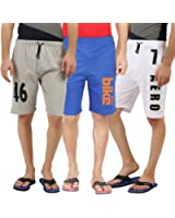 Hotfits combo graphic cotton shorts pack of 3