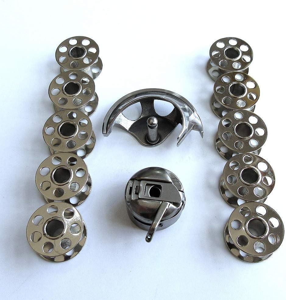 Gancho de lanzadera + funda de bobina + 10 bobinas para Bernina 1004 1260 700 730 803 830 930 ++: Amazon.es: Juguetes y juegos